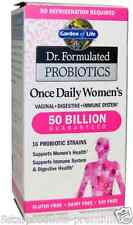 NEW GARDEN OF LIFE DR FORMULATED PROBIOTICS ONCE DAILY WOMEN'S 30 HEALTH SUPPORT
