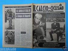 1964 il calcio e il ciclismo illustrato n. 21 jacques anquetil fulvio bernardini
