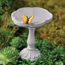 Miniature Fairy Garden Butterfly Birdbath  Pick/Faerie Gnome Hobbit 16392