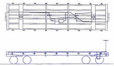 COLORADO MIDLAND RAILROAD 1887 FLAT CAR HO Craftsman Wood KIT TC2014