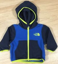 The North Face Full Zip Jacket Baby Toddler Size 0-3 Months Blue Neon Yellow
