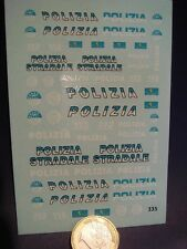 DECALS 1/43 POLICE ITALIENNE POLIZIA  - T335