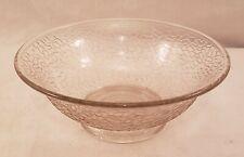 """Vintage Clear Crackle Glass Bowl - 7"""" Diameter - Excellent Condition"""