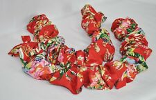 Gathered Shirred Tie Backs made w Ralph Lauren Belle Harbor Red Floral Fabric