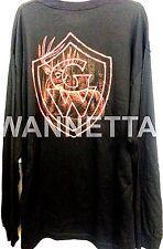 Men's 2XL Black T-Shirt Long Sleeve Fire Hot Deer w/ OOP Game Winner Logo NEW