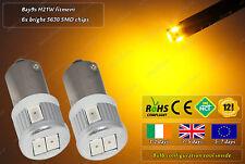 2x LED Yellow Amber Orange H21W BAY9S Xenon Bayonet Bulbs Side Repeater Lamps