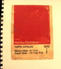 1941-78 Harley-Davidson Pts.Cat. Electra Glide FL/FLH Super Glide FX/FXE/   FSH