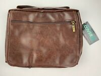 Gregg Gift Enesco Brown Leather-Look Bible Cover Organizer Large NWT