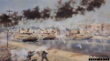 Signed Military art print royal tank regiment Iraq war Cyclops sqd