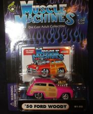 MUSCLE MACHINES 1940 '50 FORD WOODY PINK  2000 Issue  1/64 01-52