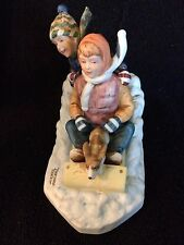 """Downhill Racer"" Porcelain Figurine By Norman Rockwell~1982"