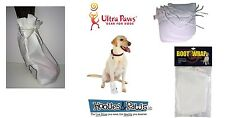 Ultra Paws Dog Wound Injury Boot Wraps Water Resistant Outdoor Weather Set of 4