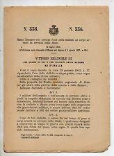 REGIO DECRETO del 1907 estende uso stellette ai corpi armati in servizio Stato
