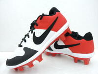 New Youth Nike Alpha Huarache Varsity Low TPU Baseball Cleats White/Red 4Y