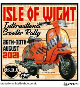 2021 ISLE OF WIGHT SCOOTER RALLY RUN BSRA PATCH MODS SKINHEADS not PADDY SMITH