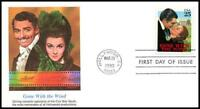 Gone With The Wind Fleetwood Full Color Cachet First Day Cover #2446 Unaddressed