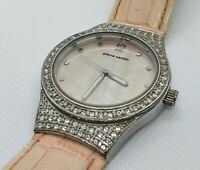 Pierre Cardin Womens Watch 3880 I.O.N Stainless Steel Diamond Set Style Leather