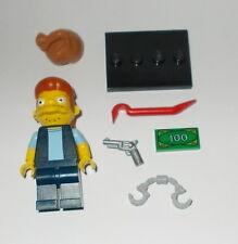 Lego Simpsons Snake 71016 stand gun moneybag crowbar handcuffs cash Kwik-E-Mart