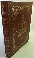 The Essays Of Ralph Waldo Emerson Easton Press Book 1979 LARGE PRINT NM
