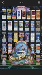 Vintage Super Bowl Poster Atlanta Georgia Dome 1993 Tickets NFL 28 XXVIII 1993