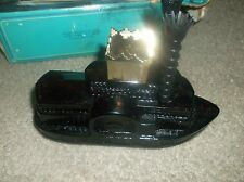 VINTAGE AVON SIDE WHEELER AFTER SHAVE DECANTER STEAMBOAT