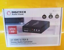 DIGITECH 4K HDML TO VGA & STEREO AUDIO CONVERTER AC - 1770 - NEW IN BOX