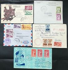 South Vietnam 1950-1960s 5 first day covers (FDC)