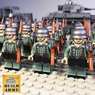 WW2 minifigure German Wehrmacht American British soldier diorama+lego motorcycle