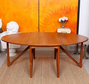 Kurt Ostervig Teak Dining Table Gateleg Folding Jason Mobler Vintage Danish