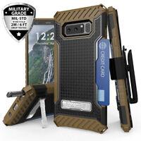 For Samsung Galaxy Note 8 Shockproof Belt Clip Holster Card Slot Kickstand Case