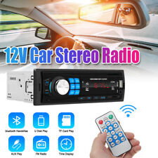 bluetooth Car Stereo 1 Din In-Dash FM Aux Input Receiver SD USB MP3 Radio
