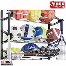 Storage Rack For Ball Shoe Sports Equipment Holder Organizer Garage Wall Mount