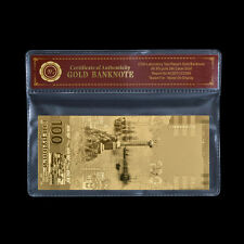 WR Russia 100 Rubles 2015 Commemorative Reunion Crimea Sevastopol Gold Banknote