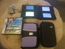 Nintendo ds Lite Crimson Red~Super Mario Game DS + Cases & Charger