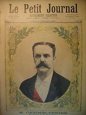 PRESIDENT DE LA REPUBLIQUE CASIMIR-PERIER ELECTION SEANCE LE PETIT JOURNAL 1894
