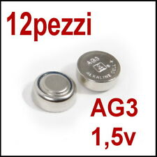 12 PILE 1,5V AG3 LR736 LR41 192 BOTTONE OROLOGIO PILA (non 10)