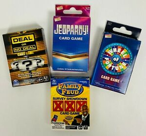 Game Show Card Games Family Feud Deal or No Deal Wheel of Fortune Jeopardy LOT
