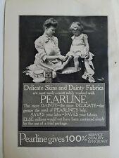 1906 Perlato Sapone Little Girl Bagno Piedi Legno Lavaggio Vasca Vintage