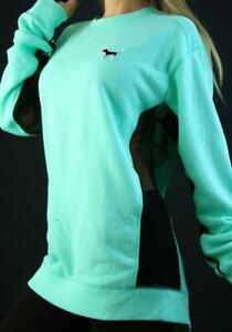 Victoria's Secret PINK Crew Mesh Sweatshirt Top Active NWT