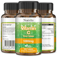 Vitamin C x 360 Vegan Tablets -1000mg High Strength Vitamin C Timed Release