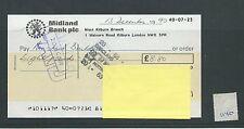 wbc. - CHEQUE - CH1140- USED -1990 - MIDLAND BANK, WEST KILBURN, LONDON NW5