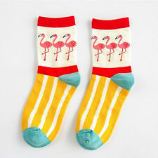 Fashion Lovely Women/girls Creative Flamingos Pattern Casual Cotton Socks Xmas Wave