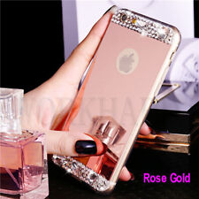 Luxury Bling Crystal Diamond Mirror Case Soft Cover For Apple iPhone 6s/7/7 Plus