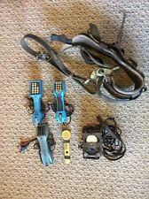 Vintage lot GTE Linemans TouchTone Telephone Handset Test-Phone Leather Harness