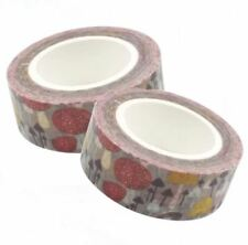 2x Colorful Printed Masking - DIY Tape The Pursuit Happiness (Mushroom)