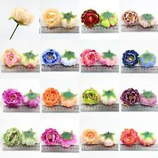 50Pcs Artificial Peony flower heads Silk Fake Flowers For DIY Wedding Wall Decor