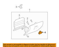 GM OEM Glove Box-Latch Handle 10391626
