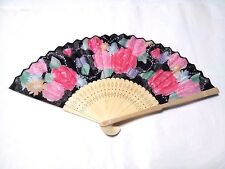 JAPANESE Sensu Fan With the wind /poly made /Jewelry and roses /Japan