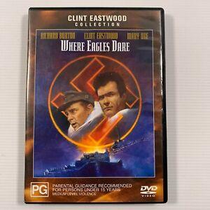 Where Eagles Dare (DVD 2004) 1969 film Clint Eastwood, Richard Burton Region 4