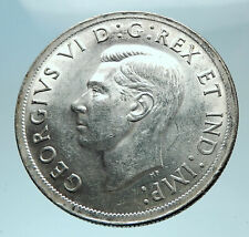 1939 CANADA Canadian Cetnre Block in Ottwa George VI Silver Dollar Coin i78594